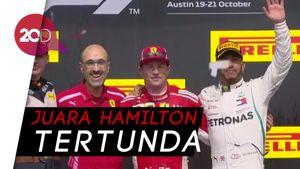 Raikkonen Tercepat di GP Amerika, Hamilton Gagal Selebrasi Juara