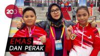 Kakak-beradik Anak Bangsa Dapat Medali Wushu di China