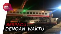 Pencarian Korban Hidup di Kecelakaan Kereta Taiwan