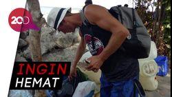 Bule Ini Ngais Makanan dari Tong Sampah di Bali