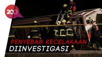 Detik-detik Kecelakaan Kereta di Taiwan