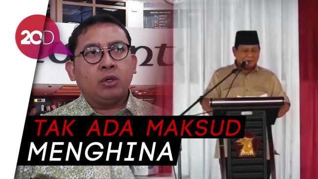 Fadli Zon soal 'Tampang Boyolali': Itu Gaya Retorik Prabowo
