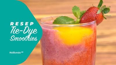 Resep Tie-Dye Smoothies