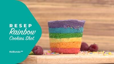 Resep Rainbow Cookies Shot