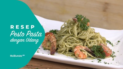 Resep Pesto Pasta dengan Udang
