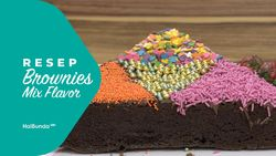 Resep Brownies Mix Flavor