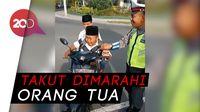 Tangisan Pilu Bocah saat Ditilang Polisi