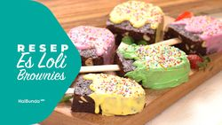 Resep Es Loli Brownies