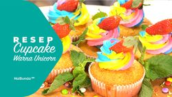 Resep Cupcake Warna Unicorn