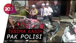 Senangnya Korban Begal Saat Motornya Dikembalikan Polisi