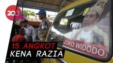 Angkot Pasang Stiker Raja Jokowi, Pol PP dan Bawaslu Bergerak