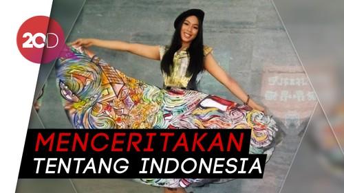 Kerennya Gaun Buatan Miss Indonesia 2018 Saat Audisi Miss World