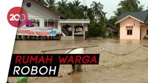 Hujan Deras, Tanggul Jebol, Ratusan Rumah di Aceh Terendam