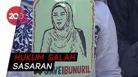 Mahasiswa di Makassar Tuntut Jokowi Bebaskan Baiq Nuril