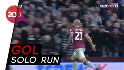 Bek Aston Villa Cetak Gol Layaknya Lionel Messi