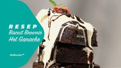 Resep Biscuit Brownie Hot Ganache
