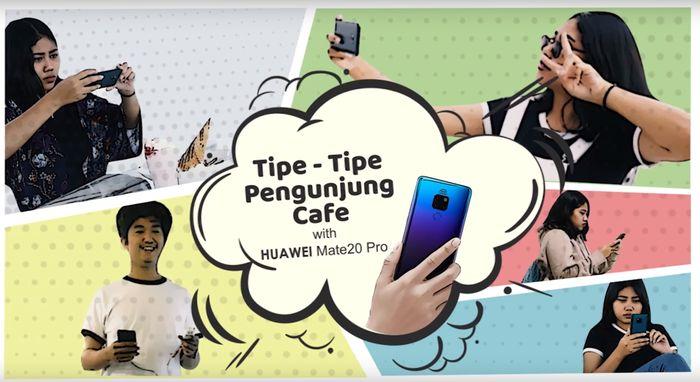 Huawei Mate 20 Pro : Tipe-tipe Pengunjung Cafè