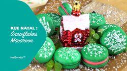 Kue Natal: Snowflakes Macaroon