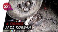 Ngeri! Truk Lepas Kendali Tabrak Kendaraan & Parkiran RS di Brebes