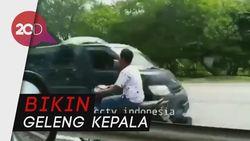 Nekat! Pemotor Ini Lawan Arah di Tol Sambil Ngebut