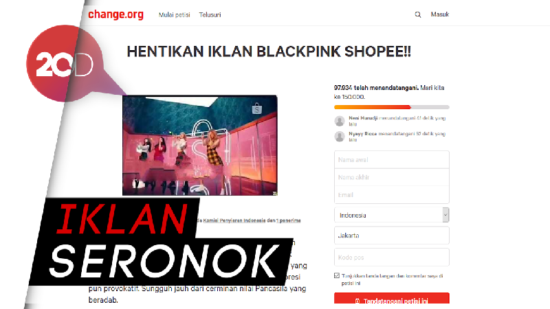 Wadidaw! Muncul Petisi Tolak Iklan BLACKPINK