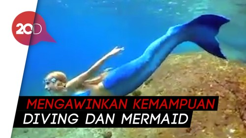 Wow! Ini Katrin Gray si Mermaid Profesional