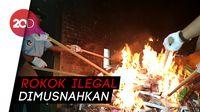 Bea Cukai Blitar Musnahkan Rokok Ilegal Senilai Ratusan Juta