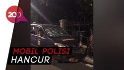 Jejak Penyerangan Mapolsek Ciracas, Mobil Polisi Hancur