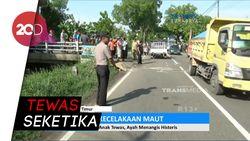 Pemuda Tewas Kecelakaan Motor, Sang Ayah Histeris