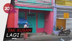 Jadi Cantik! Wajah Kota Tua di Surabaya Disulap Warna-warni