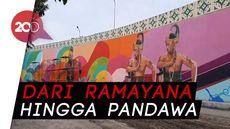 Keren! Flyover Manahan Solo Dihiasi Mural Klasik Futuristik