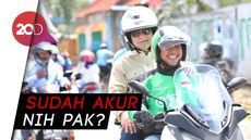 Saat Prabowo Naik Ojek Online di Sentul