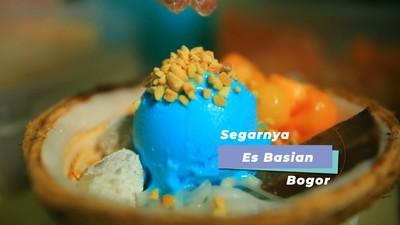 """Sensasi Segarnya Es Krim Batok Isian """"Basian"""", Bogor"""