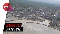 Penampakan dari Udara Pasca-Tsunami Anyer