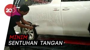 Cuci Mobil Touchless Kini Bisa di SPBU