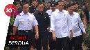 Becek-becekan, Jokowi-Anies Tinjau Warung Nasi Uduk di Tambora