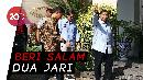Sowan ke Rumah SBY, Prabowo Acungkan Salam Dua Jari