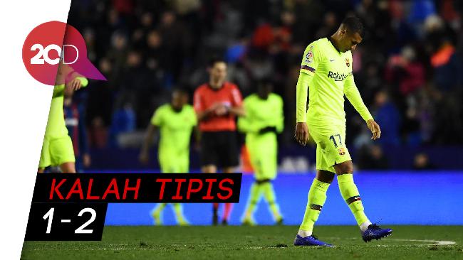 Messi-suarez Absen, Barca Tumbang Di Markas Levante