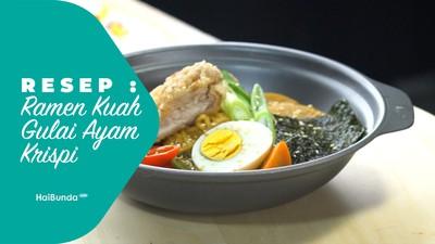 Resep Ramen Kuah Gulai Ayam Krispi