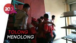 Aksi Heroik Evakuasi Pria Kesetrum