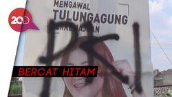Baliho Caleg PSI di Tulungagung Dirusak dan Dicoret 'PKI'