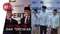 Keriuhan Pendukung Sambut Kedatangan Prabowo-Sandi dan Jokowi-Maruf