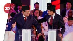 Prabowo Joget Lalu Dipijat Sandi Saat Ditanya Caleg Eks Koruptor