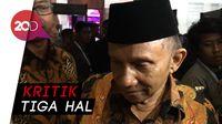 Amien Rais Kritik Maruf Amin dan Prabowo di Debat Perdana