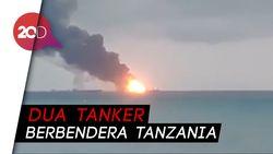 Dua Kapal Terbakar di Krimea, 11 Orang Tewas Terpanggang