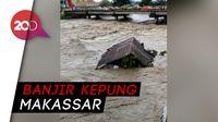 Gambaran Kengerian Banjir Bandang di Makassar