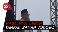 Ma'ruf Bandingkan Pembangunan Ekonomi Era Jokowi dan Sebelumnya