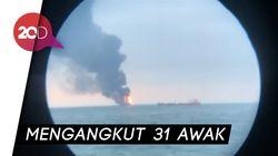 Transfer Bahan Bakar, Pemicu Dua Tanker Terbakar di Krime
