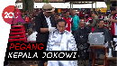 Herman Grogi saat Cukur Rambut Jokowi