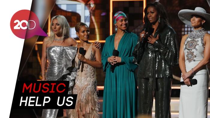 Girl Power! Lady Gaga-Michelle Obama Bicara soal Musik di Grammy
